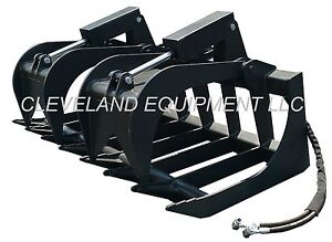 New 84 Root Grapple Attachment Skid Steer Loader Bucket Rake Tine Rod Bobcat 7