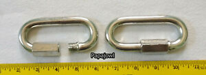 2 Safety Chain Clip Quick Links 1 2 Threaded 13 200 Rated Trailer Tie Down