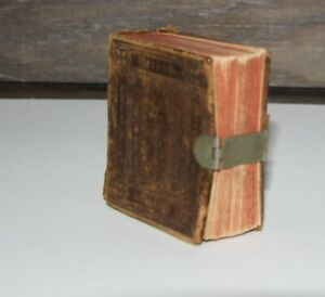 Antique 1850 Thumb Bible Clasp Leather