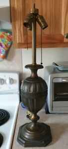 Large Antique Signed Pairpoint Lamp Base D3039