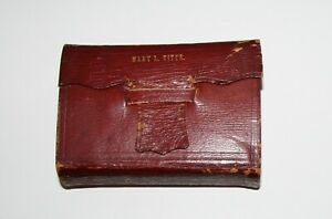 Antique 1852 Red Leather Old And New Testament Holy Bible Very Nice