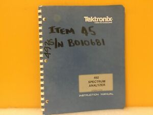 Tektronix 070 2726 01 492 Spectrum Analyzer Operators Instruction Manual