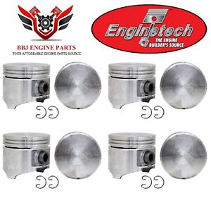 Chrysler Dodge Mopar 318 5 2 Enginetech Pistons 8 And Moly Rings 1985 2003