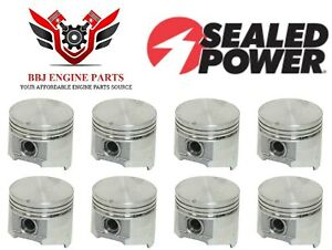 Chrysler Dodge Mopar 318 V8 Magnum Sealed Power Flat Top Pistons 8 1985 2003