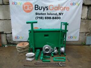 Greenlee 686 4000 Lbs Cable Tugger Puller With Rope Works Great