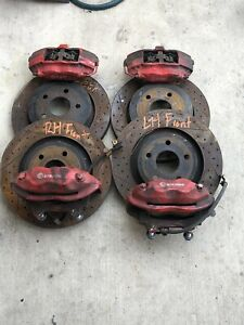 06 10 Jeep Grand Cherokee Srt8 Red Front Rear Set Of 4 Calipers Brembo 4rotors