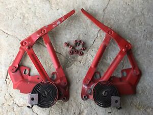 1994 2001 Dodge Ram 1500 2500 3500 Hood Hinges Left Right With Bolts Red Oem