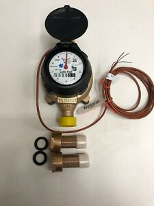 Badger 5 8x3 4 M25 Brass Water Meter Rtr Cubic Feet With Couplings