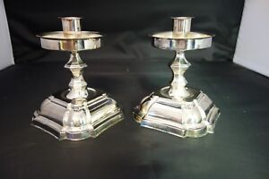Pair Of Vintage Silverplate Candlesticks From Denmark Beautiful