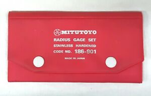 Mitutoyo Radius Gage Set Code No 186 901 Stainless Hardened 26pcs 1 64 1 2