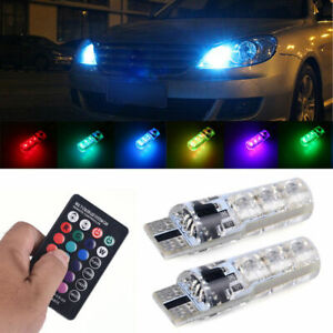 Rgb 6smd T10 W5w 5050 Remote Control Car Led Lights Colorful Side Light Bulbs