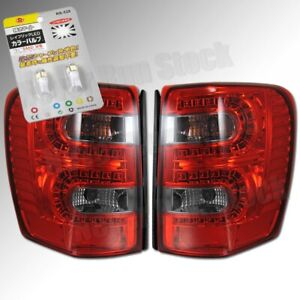 Jeep Grand Cherokee Red Smoke Lens Led Tail Lights Led White License Plate Bulb