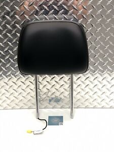 14 18 Jeep Grand Cherokee Front Seat Active Headrest Head Rest Black Leather Oem