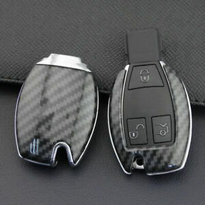 For Mercedes Benz 2010 2019 Carbon Fiber Hard Smart Key Fob Case Shell Cover