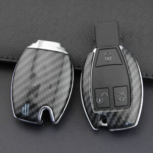 For Mercedes Benz 2010 2020 Carbon Fiber Hard Smart Key Fob Case Shell Cover