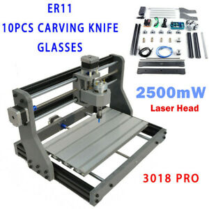 2in1 3018 Cnc Machine Router 3axis Engraving Pcb Wood Carving Diy Milling 2500mw