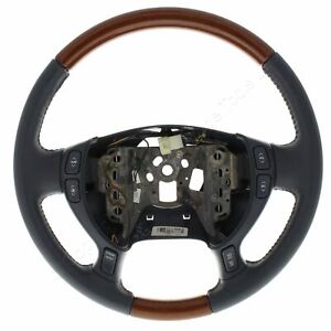 New Gm Oem Tuxedo Blue Leather And Wood Steering Wheel 16867102