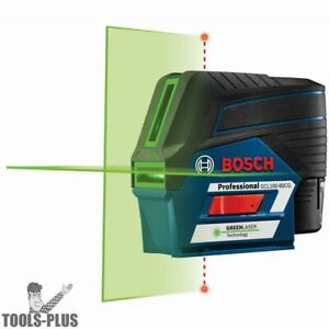 Bosch Gcl100 80cg 12v Max Connected Green beam Cross line Laser W Plumb New