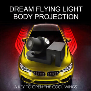 Car Red Angel Wings Led Welcome Door Ghost Shadow Projector Suv Truck Lamp Light