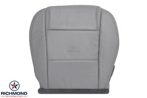 2005 2009 Ford Mustang V6 driver Side Bottom Replacement Leather Seat Cover Gray