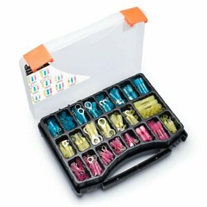 270 Pcs Wirefy Heat Shrink Electrical Connector Kit Wire Crimp Terminals