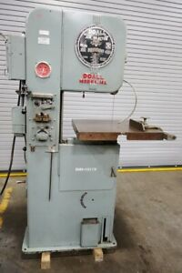 Doall 16 Vertical Metal Band Saw Band Saw