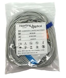 Burdick Compatible 10 Lead Ekg Cable Aha Banana