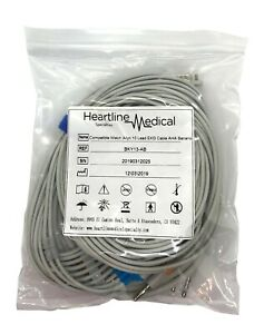 Welch Allyn Compatible 10 Lead Ekg Cable Aha Snap