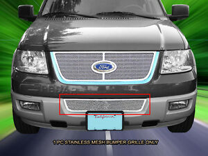 Stainless Steel Mesh Grille Grill Bumper For Ford Expedition 2003 2006