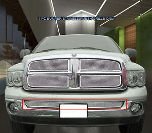 For 2002 2005 Dodge Ram 1500 2500 3500 Stainless Mesh Grille Grill Bumper