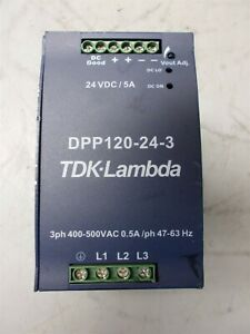 Tdk Lambda Power Supply Dpp120 24 3 Output 24vdc 120w