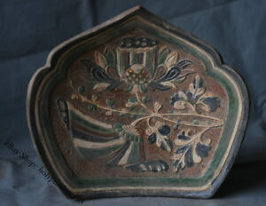 11 Old Chinese Tang San Cai Porcelain Pottery Palace Used Pillow Weeping Willow