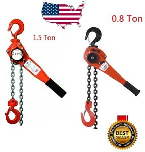 0 8 1 5 Ton Lever Block Chain Hoist Ratchet Type Comealong Puller Lifter