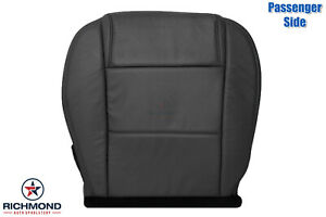 2005 2009 Ford Mustang V6 passenger Side Bottom Genuine Leather Seat Cover Black