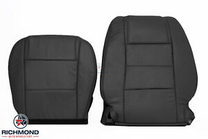 2005 2009 Ford Mustang V6 Coupe Driver Side Complete Leather Seat Covers Black