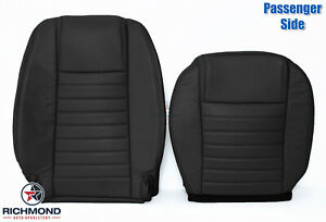 2005 2009 Ford Mustang V8 Passenger Side Complete Leather Seat Covers Black