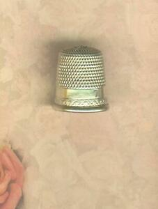 Antique Size 7 Sterling Simons Bros Thimble Circa 1900