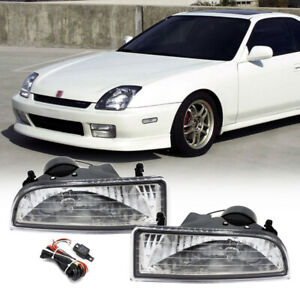 For 1997 2001 Honda Prelude Clear Lens Fog Lights Bumper Driving Lamps W wiring