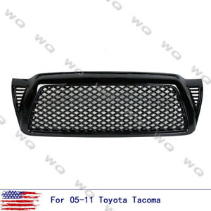 Fit Toyota Tacoma 2005 2009 Black Honeycomb Mesh Front Bumper Hood Grill Grille