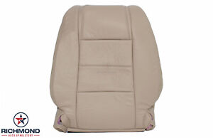 2008 Ford Mustang V6 Driver Side Lean Back Genuine Leather Seat Cover Tan