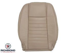 2008 Ford Mustang V8 Gt Driver Side Lean Back Replacement Leather Seat Cover Tan