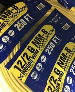 12 2 Indoor Electrical Wire 250 Ft Yellow