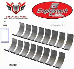 Dodge Chrysler Mopar 361 383 400 413 440 Enginetech Rod Bearings 1959 1979