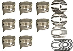 8 Sealed Power Amc Jeep 360 V8 Pistons With Hastings Rings 1970 1991