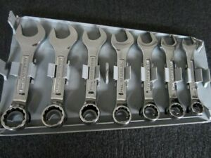 Craftsman Professional 7pc Stubby Metric Combination Wrench Set Vv Made In Usa