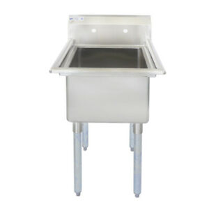29 18 ga Ss304 One Compartment Commercial Sink 24 X 24 X 14 Bowl