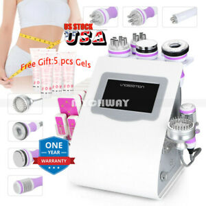 Led 9in1 Vacuum Ultrasound Cavitation Rf Cold Hammer Photon Weight Loss Machine