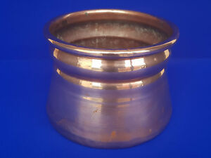 Late Victorian Copper Art Nouveau Arts And Crafts Planter Pot