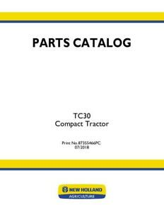 New Holland Tc30 Compact Tractor Parts Catalog