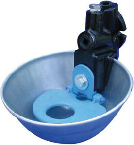 Smb Mfg galvanized Nose Pan Water Bowl For Cattle Blue 14 Liters min